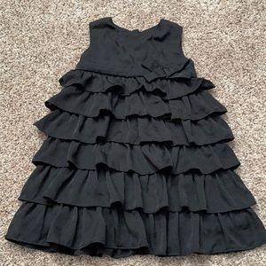 3T Old Navy Black Ruffled Dress